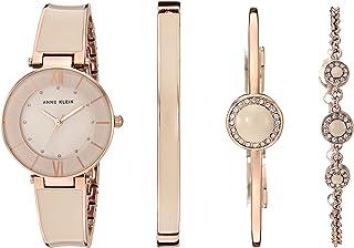 Anne Klein Blush Pink Watch and Bracelet Set