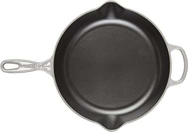 "Le Creuset Enameled Cast Iron Signature Iron Handle Skillet, 11.75"" (2-3/8 qt.), Oyster"