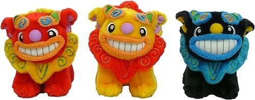 ventas en linea Shisa conjunto de de de juguetes de peluche (rojo, amarillo, negro) (japonesas Importaciones)  ventas en linea