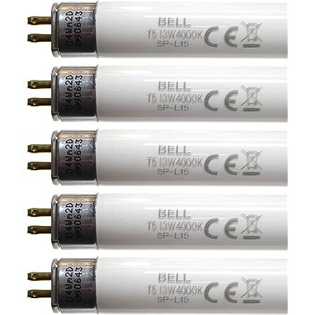 Bell Lighting – Lot de 5 tubes fluorescents T5 13 W, 525 mm, blanc froid 4000 K, culot G5, 05412