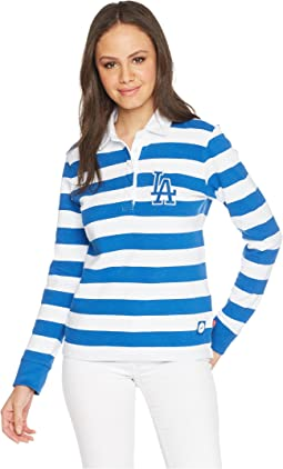 LA Dodgers Striped Rugby Shirt
