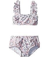 Summer Wallflower Mini Tube Bikini Set (Toddler/Little Kids)