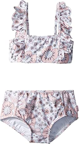 Seafolly Kids - Summer Wallflower Mini Tube Bikini Set (Toddler/Little Kids)