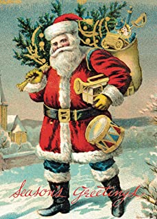 Cavallini & Co. Santa Claus Decorative Decoupage Poster Wrapping Paper Sheet