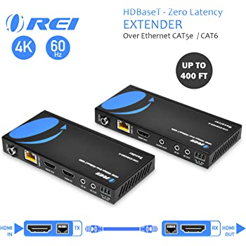 Low Latency Full Support Loop Out Up to 165 Ft OREI 1x8 HDMI Extender Splitter Multiple Over Single Cable CAT6//7 1080P with IR Remote EDID Management
