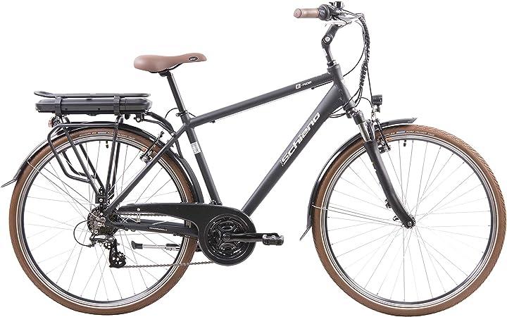 Bicicletta elettrica men`s, nera, 28`` f.lli schiano e- ride, B086HDT6XM
