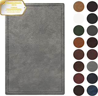 Leather Repair Patch Self-Adhesive Couch Patch Emboss Leather 5X8 inch for Sofas, Car Seats, Handbags, First Aid Patch (Light Gray)