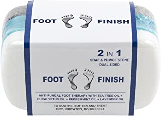 Athletes Foot Scrubber Pumice Stone With Tea Tree Oil And Antifungal Soap 2 In 1 For Itchy Dry Irritated Feet