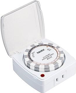 リーベックス(Revex) コンセント タイマー スイッチ式 カバー付き プログラムタイマーEX PT77