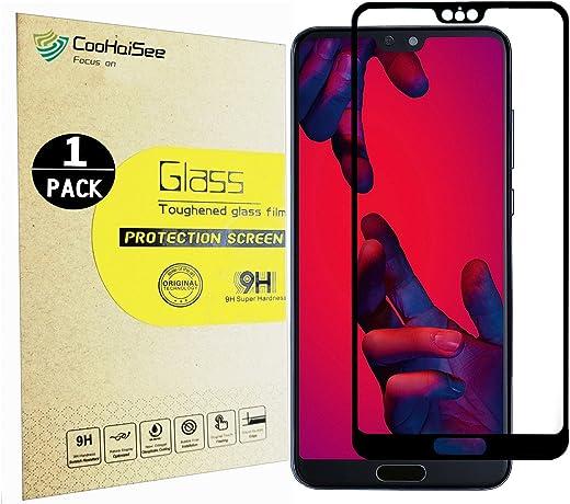 Huawei P20 Pro Pellicola Protettiva, CooHaiSee [0,3mm, 3D] [Senza bolle] [Durezza 9H] [Facilità di installazione] [HD Clear] Protezione dello schermo in vetro temprato per Huawei P20 Pro