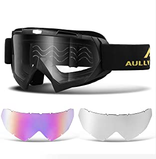 AULLY PARK Polarized Motorcycle Riding Glasses Black...