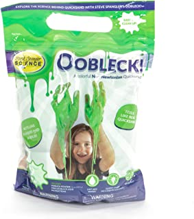Steve Spangler Science Oobleck Mix, 16 oz Powder Packets, Green Slime – Science Kits for Kids, Safe, Non-Toxic, Environmentally Friendly, Encourages Creative STEM Learning for Classrooms or Home