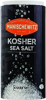 Manischewitz Premium Kosher Salt, Coarse Sea Salt, 16oz (1 Pound) Easy Pour Canister, Product of Italy, Pure Mediterranean...