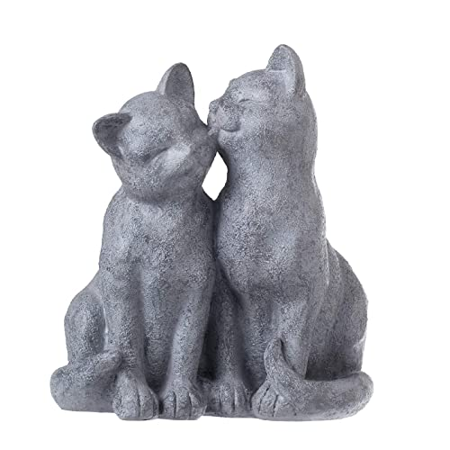 Attirant PINE AND PAINT LLC Cat Statue Loving Cats Indoor Outdoor Grey Stone Finish
