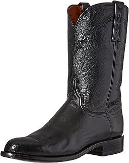 حذاء رجالي برقبة طويلة من Lucchese Classics برقبة طويلة باللون الأسود