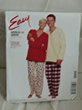 McCall's Sewing Pattern: Stitch 'n Save #3006: (EASY) Misses', Men's & Teen Boys' Top & Pull-On Pants (Size S-M-L)
