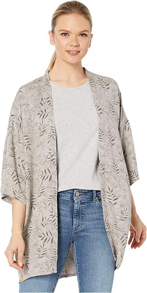 High-Rise Grey/Floral All Over Print