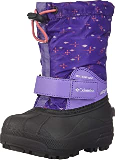 Columbia Youth Powderbug Forty Print Snow Boot, Waterproof, Insulated