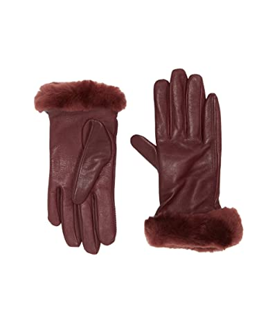 UGG Classic Leather Shorty Tech Gloves (Kiss) Extreme Cold Weather Gloves