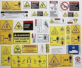 合計32枚 警告ラベル 建設機械ステッカー ユンボステッカー重機用デカール 車両油圧ショベルステッカー 危険注意安全標識