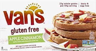 Van's Simply Delicious Gluten-Free Waffles, Apple Cinnamon, 6 Count (Frozen)