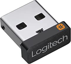 Logitech USB Unifying Receiver, 2.4 GHz Wireless Technology, USB Plug Compatible with all Logitech Unifying Devices like W...