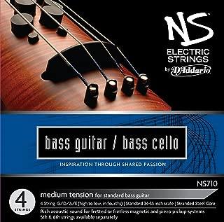 D'Addario NS Electric Bass/Cello String Set, 4/4 Scale, Medium Tension