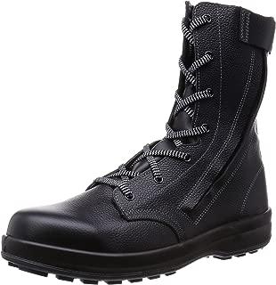 [シモン] 安全靴 長編上 JIS規格 耐滑 快適 軽快 紐 チャック付 WS33C付
