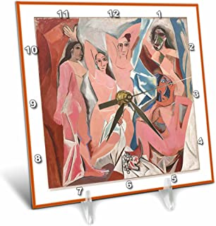 3dRose dc_59784_1 Picasso Painting Davignon Desk Clock, 6 by 6-Inch