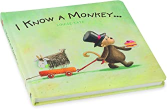 Jellycat I Know A Monkey Book - Board Book