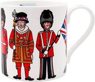 Alison Gardiner Famous Illustrator -London British Figures Fine Bone China Coffee Cup and Tea Mug - Premium Quality and De...