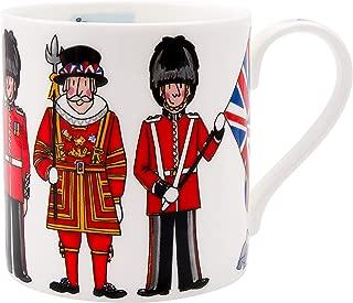 Alison Gardiner Famous Illustrator -London British Figures Fine Bone China Coffee Cup and Tea Mug - Premium Quality and Detail
