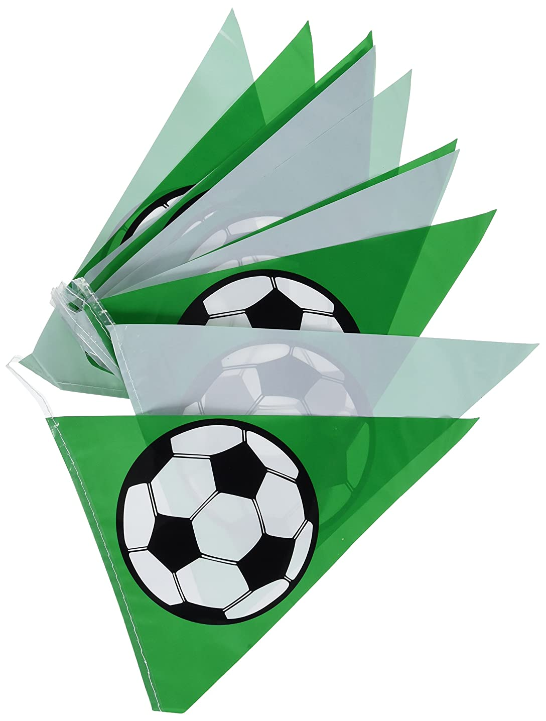 Soccer Ball Pennant Banner Party Accessory (1 count) (1/Pkg)