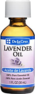 De La Cruz Pure Lavender Essential Oil, Steam-Distilled, Bottled in USA 1 FL. OZ.