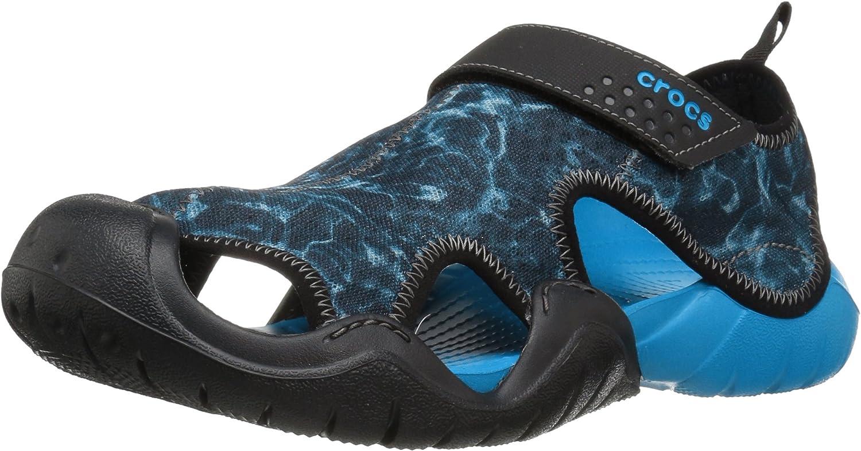 Crocs Men's Swftwtrgrphsndl Gladiator Sandals