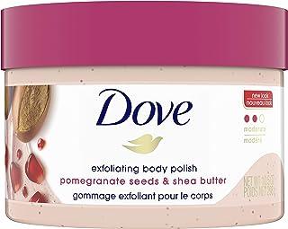 Dove Exfoliating Body Polish Scrub For Silky, Soft Skin Pomegranate and Shea Butter Body Scrub Exfoliates and Provides Las...