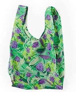BAGGU Standard Reusable Shopping Bag, Ripstop Nylon Grocery Tote or Lunch Bag, Mixed Greens