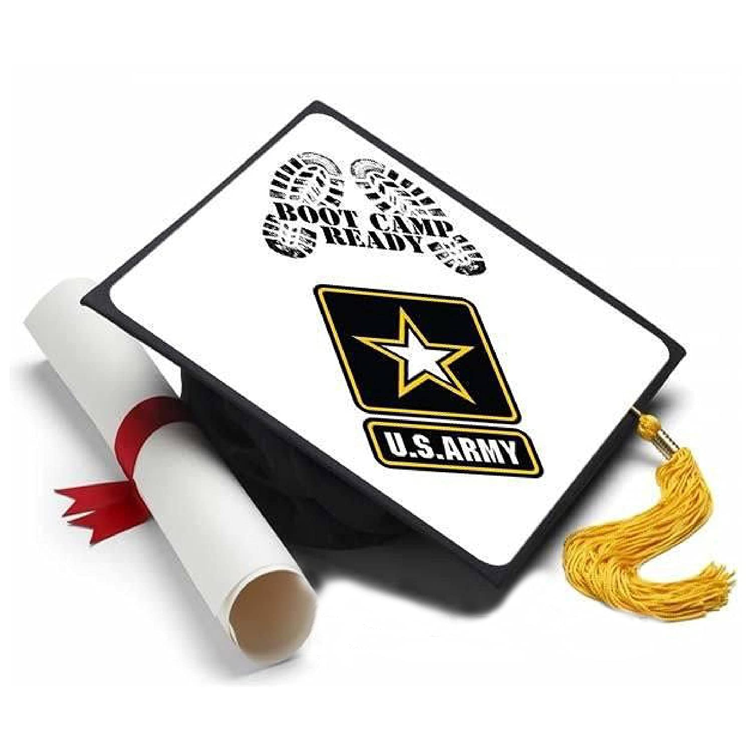 Tassel Toppers Army - Graduation Caps for Future Army Recruits - US Army Decorated Grad Caps