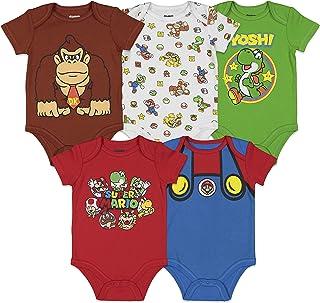 Nintendo Baby Boys 5 Pack Bodysuits