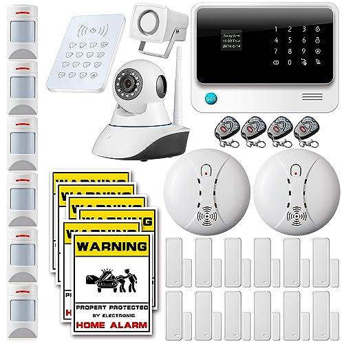 Fuers - G90B Kit Alarme Maison Système sans Fil WiFi GSM GPRS SMS OLED Contrôle App + Alarme Animaux Pet Immune PIR détecteur + Clavier Externe déporté sans Fil