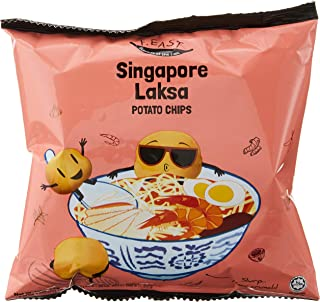 F.EAST Potato Chips Carton, Singapore Laksa, 22g (Pack of 30)