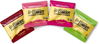 Honey Stinger Organic Energy Chews – Variety Pack – 4 Count – 1 of Each Flavor – Chewy Gummy Energy Source for Any Activity – Cherry Blossom, Lime-Aid, Cherry Cola & Fruit Smoothie
