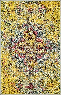 A2Z Rug Modern Contemporary & Traditional Design Rugs, Yellow 2' 2 x 3'-Feet Milano Collection Area rug