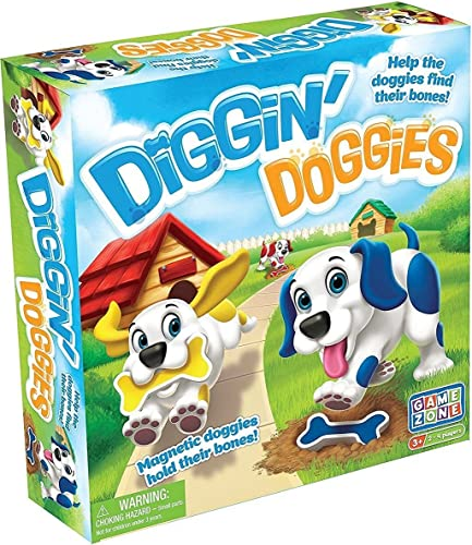 International Playthings Game Zone - Diggin' Doggies Board Game - Help the Dogs Find Their Bones  A Fun Racing, Counting & Farbe Recognition Game