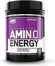 Optimum Nutrition Essential Amino Energy, Concord Grape, Keto Friendly BCAAs, Preworkout..