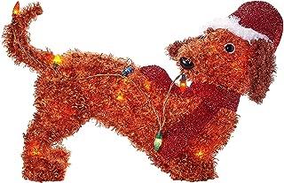 Everstar, Ltd. Holiday Time Light-Up Fluffy Dachshund (22 in Long)