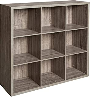 ClosetMaid 1327 Decorative 9-Cube Storage Organizer, Weathered Gray