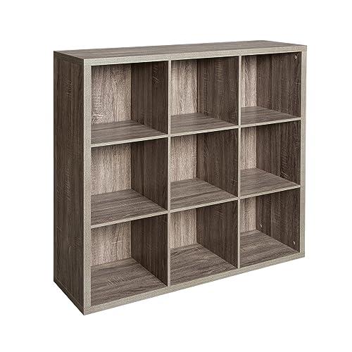 ClosetMaid 1327 Decorative 9 Cube Storage Organizer, Weathered Gray