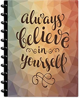 Tools4Wisdom Customizable Disc Planner - October 2019-2020 - Refills Dated Oct November December 2019 Plus 2020 Calendar Year - Refillable Hardcover w 8.5 x 11 Big Daily Weekly Monthly Ideas Pages