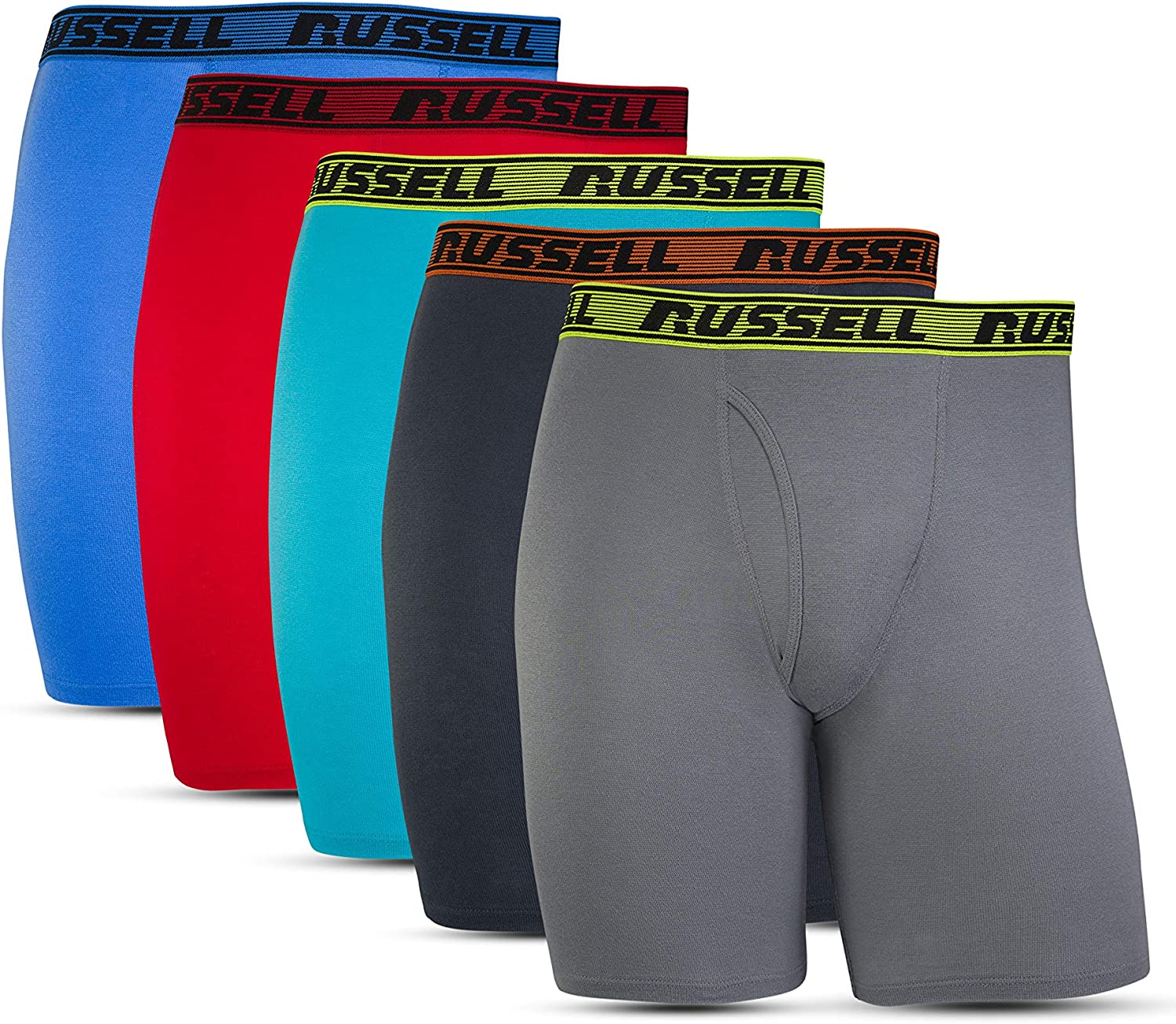 Russell Athletic Men's All Day Comfort Boxer Briefs (5 Pack)